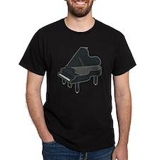Dark Grey Baby Grand Piano T-Shirt