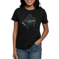Dark Grey Baby Grand Piano Tee