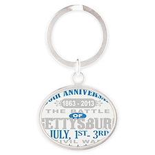 150 Gettysburg Civil War Oval Keychain