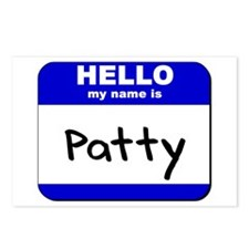 hello my name is patty  Postcards (Package of 8)