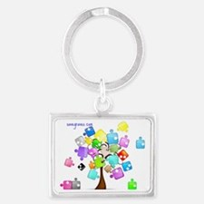 Family Tree  Landscape Keychain