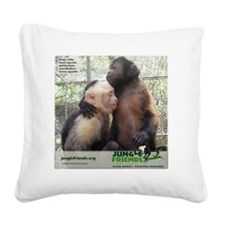 Monkey Love Square Canvas Pillow