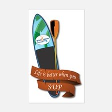 LIFE IS BETTER WHEN YOU SUP Sticker (Rectangle)