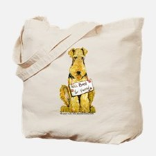 Airedale Terrier Bark for Food Tote Bag