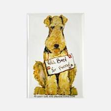 Airedale Terrier Bark for Food Rectangle Magnet (1