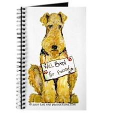 Airedale Terrier Bark for Food Journal