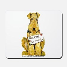 Airedale Terrier Bark for Food Mousepad