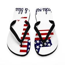 New York Rocks Red White  Blue Flip Flops