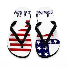 Texas Rocks Red White  Blue Flip Flops