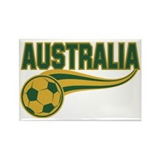 Soccer ball with the word Austral Rectangle Magnet