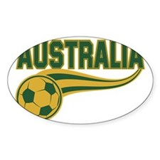 Soccer ball with the word Australia Decal