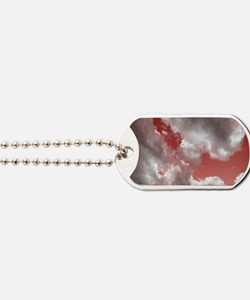 Storm Clouds in Red Dog Tags