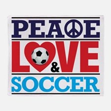Peace Love and Soccer Throw Blanket