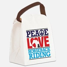 Peace Love and Horseback Riding Canvas Lunch Bag