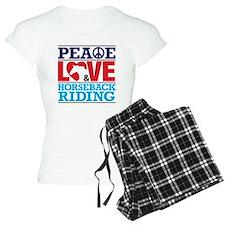 Peace Love and Horseback Ri Pajamas