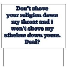 Religion vs. Atheism Yard Sign