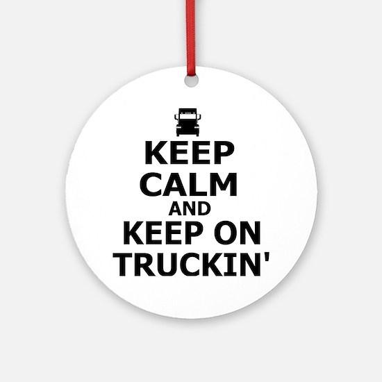 Keep on Truckin' Round Ornament