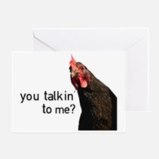 Funny Attitude Chicken Greeting Card