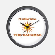 I'd Rather Be In The Bahamas Wall Clock