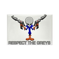 RESPECT THE GREYS Rectangle Magnet
