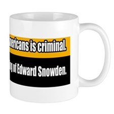 NSA Spying Edward Snowden Whistleblower Mug