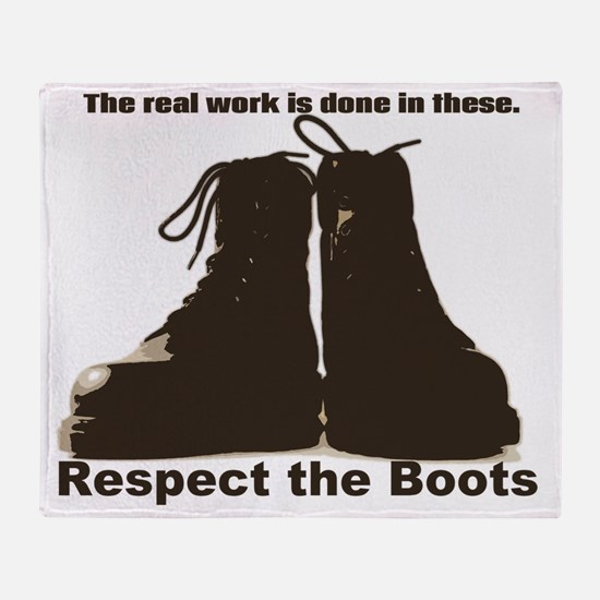Respect the Boots Throw Blanket