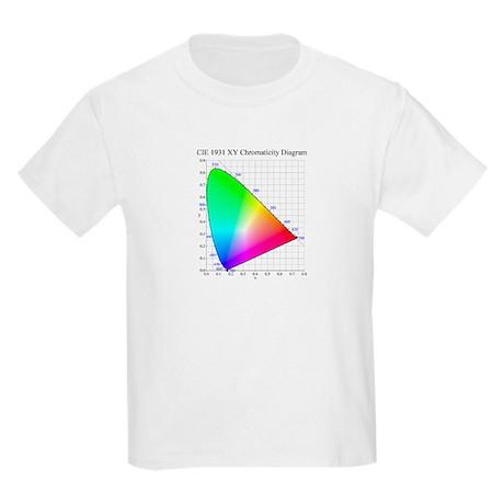 Chromaticity Diagram Kids Light T-Shirt