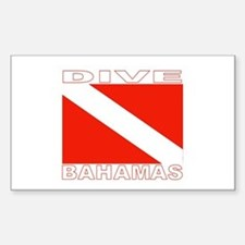 Dive Bahamas Rectangle Decal