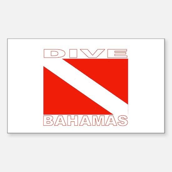 Dive Bahamas Rectangle Decal