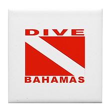 Dive Bahamas Tile Coaster