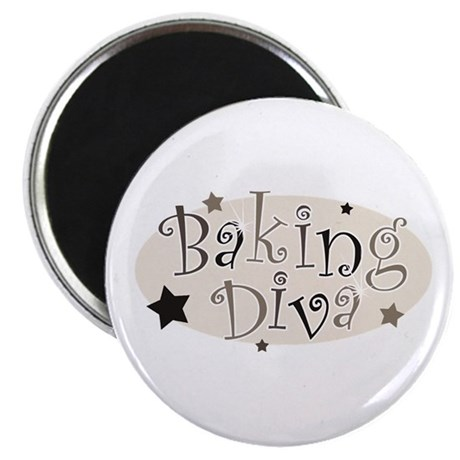 Baking Diva [brown] Magnet