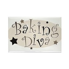 Baking Diva [brown] Rectangle Magnet