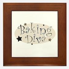 Baking Diva [brown] Framed Tile