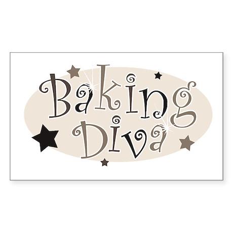 Baking Diva [brown] Rectangle Sticker