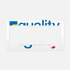 Equality and Dignity License Plate Holder