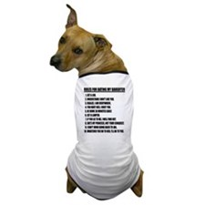 Rules For Dating My Daughter Dog T-Shirt