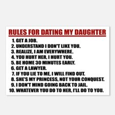 Rules For Dating My Daugh Postcards (Package of 8)