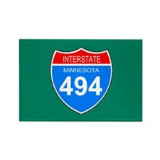 Interstate 494<BR> 10 Rectangle Magnets