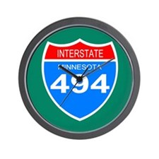 Interstate 494<BR> Wall Clock