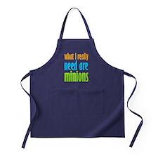 I Need Minions Apron (dark)