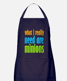 I Need Minions Apron (dark)