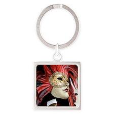 Venetian Mask Square Keychain