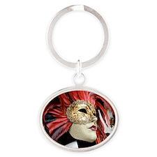 Venetian Mask Oval Keychain