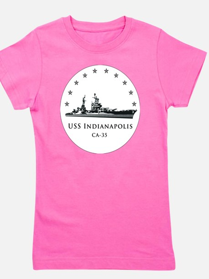 USS Indianapolis Image Round Girl's Tee