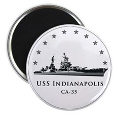 USS Indianapolis Image Round Magnet