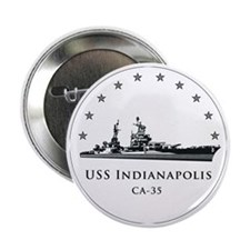 "USS Indianapolis Image Round 2.25"" Button"