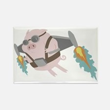 Pigs Can Fly! Rectangle Magnet