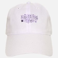"""Knitting Diva"" [purple] Baseball Baseball Cap"