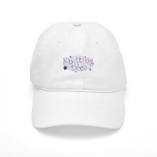 """Knitting Diva"" [purple] Baseball Cap"