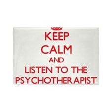 Keep Calm and Listen to the Psychotherapist Magnet